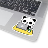 Laptop Stickers - Panda Coffee | Custom Stickers