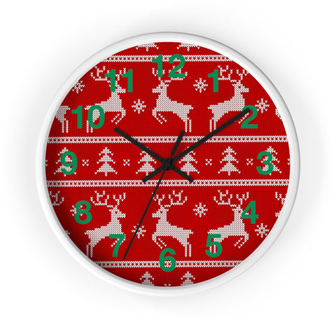 Christmas wall clock reindeer jumping | Christmas decorations