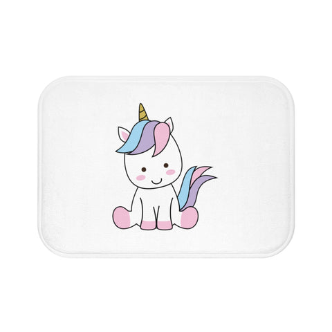 Home decor - Unicorn sitting bath mat | Custom bath mat | Personalized gift