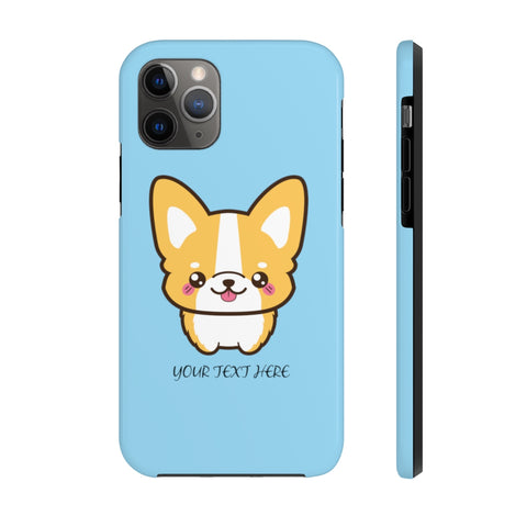 iPhone 11 pro cases - Blue color cute corgi | iPhone cases mate tough | Personalized iPhone cases