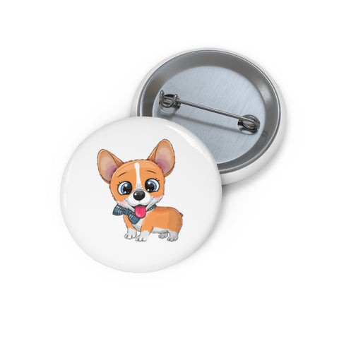 Personalized pin button - Cute corgi | Custom Pin | Personalized gift