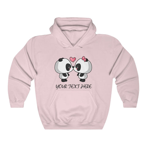 Personalized sweater - Cute kissing panda | Custom women sweater