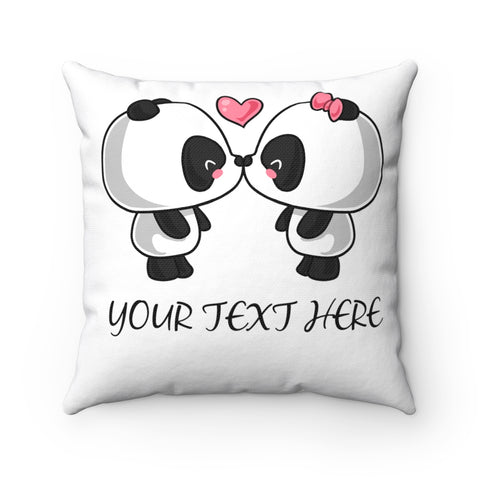 Cushion Cover - Kissing Panda