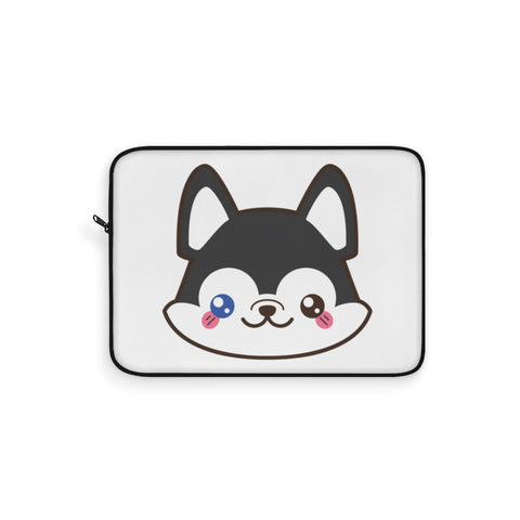 Laptop sleeve - Cute husky face | Personalized gift | Custom personalized