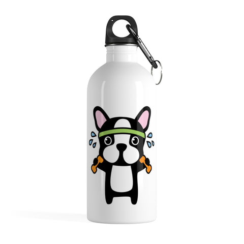 Stainless water bottle - Exercise Bulldog | Personalized gift | Custom water bottle