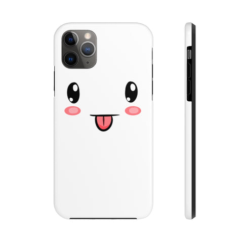 iPhone 11 pro max cases - Cute face white background color | iPhone xr cases mate tough