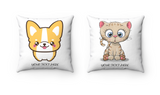 Matching couple gift - Corgi and Kitty pillow | Matching pillows | Couples gift