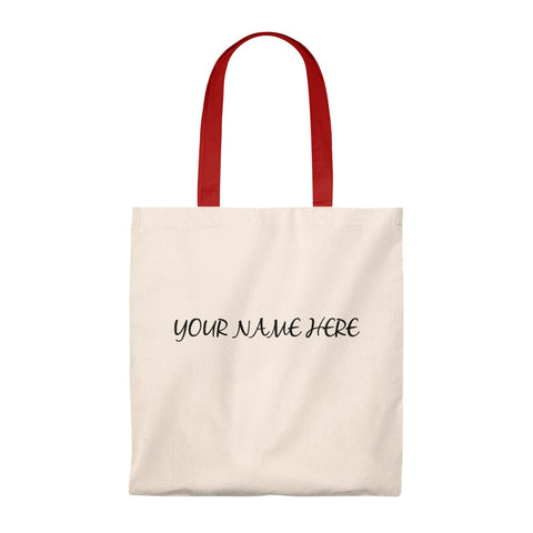 Personalize tote bag with your own name