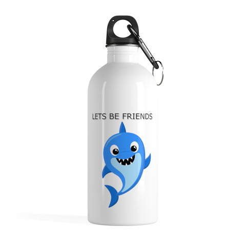 Personalized water bottle - Lets be friends | Stainless steel water bottle | Custom water bottle