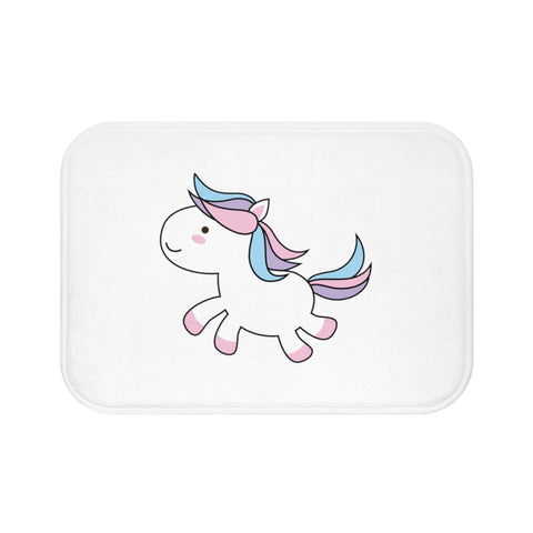 Home decor - Unicorn jumping bath mat | Custom bath mat | Personalized gift