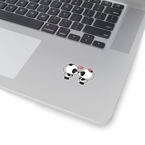 Cute Panda Kissing Stickers