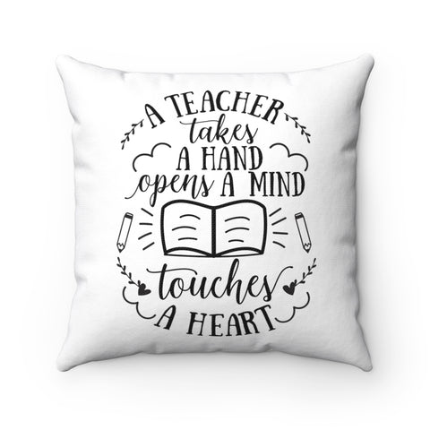 Home decor - Opens a mind | Cushion Cover | Personalized gift | Teacher Pillow