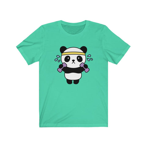 Women t shirt workout panda Short sleeve shirt for women Tee for women