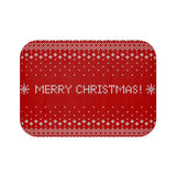 Christmas decorations - Merry xmas knitted | Custom bath mat | Christmas gift