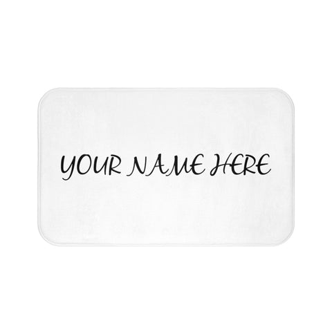 Personalized bath mat with your name