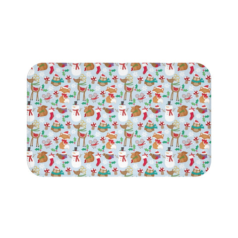 Home decor - Reindeer mat | Custom bath mat | Christmas gift