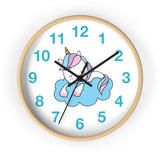 Wall clock cute sleeping unicorn