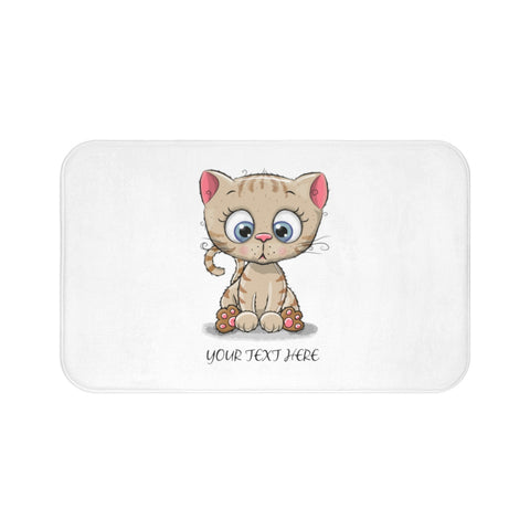 Custom bath mat - Kitty | Personalized bath mat