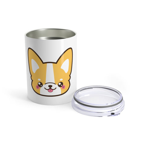 Tumbler - Cute face corgi | Custom tumbler | Personalized gift