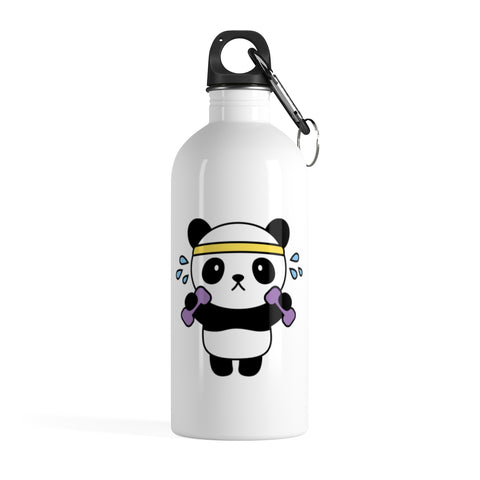 Stainless water bottle - Exercise Panda | Personalized gift | Custom water bottle