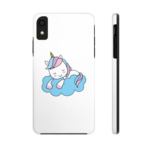 iPhone xs cases - White color cloud unicorn | iPhone xr cases mate tough