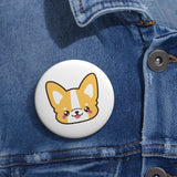 Personalized pin button - Face corgi | Custom Pin | Personalized gift