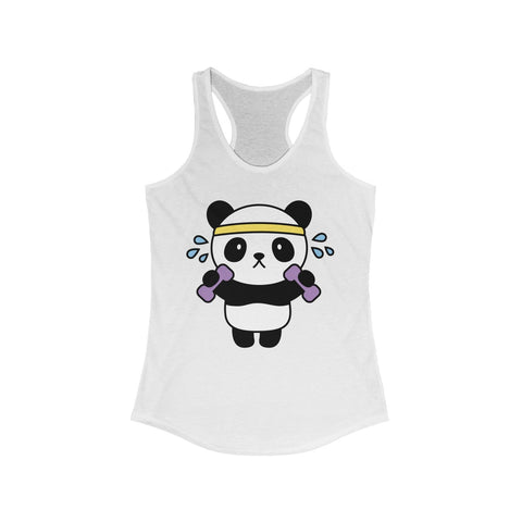Women tank top with printed working out panda | Tank top for women