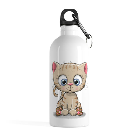 Stainless water bottle - Cute Kitty | Stainless steel water bottle | Custom water bottle