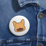 Frenchie face pin button | Custom Pin | Personalized gift
