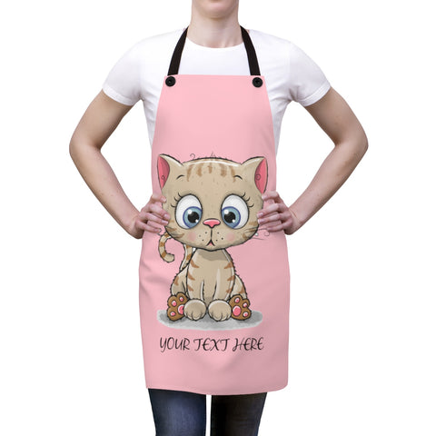 Apron for women - Cute kitty | Custom Apron | Personalized apron