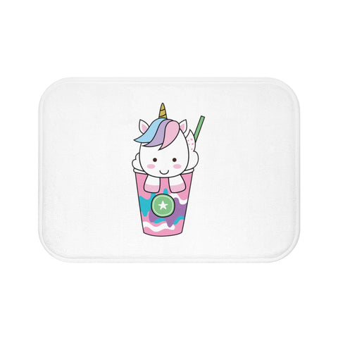 Home decor - Unicorn ice cream bath mat | Custom bath mat | Personalized gift
