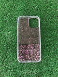 For iPhone 12 / 12 mini / 12 pro / 12 pro max pink glitter clear case