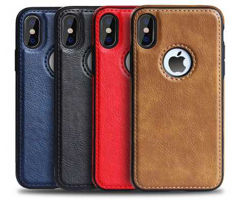 For Apple iPhone XS MAX SLIM Luxury Leather Case Cover iPhone XS iPhone 11