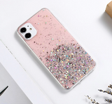 For iPhone 11 / 11 pro / 11 pro max pink glitter clear case
