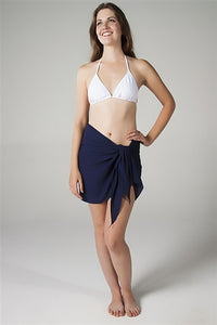 Georgette Navy Sarong