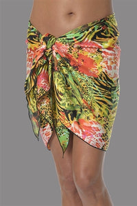 No Show Sarong Tiger Lilly Print