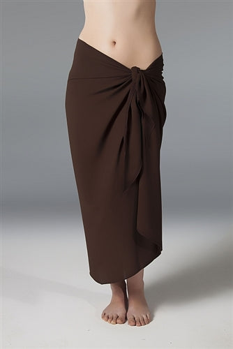 Georgette Long Sarong  - Brown