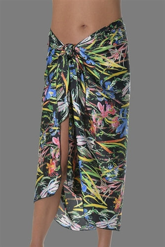 No Show Long Sarong Exotic Floral