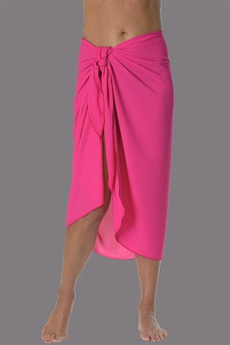 Georgette Long Sarong - Fuschia