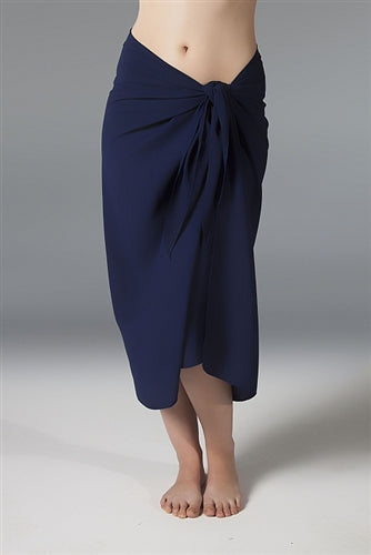 Georgette Long Sarong - Navy