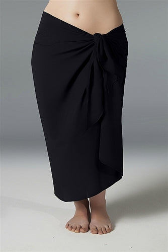 Plus Size Long Sarong - Black