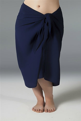 Plus Size Long Sarong - Navy