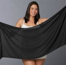 Load image into Gallery viewer, Plus Size Short Sarong Black