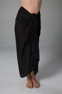 The Essential Sarong Long Black