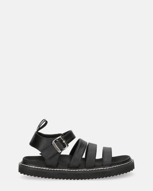 SUSANA - strap sandals in black pu - QUANTICLO