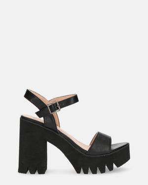 JANA - cleated sole heeled sandals - QUANTICLO
