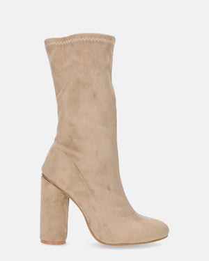 JUDIT - block heel boots in brown - QUANTICLO