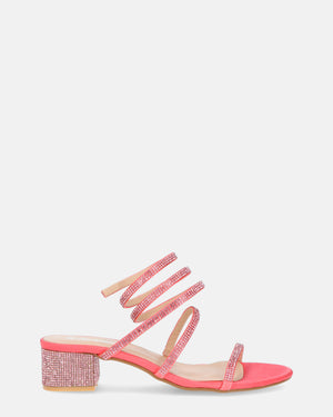CONNIE -  spiral diamonds sandals in pink - QUANTICLO