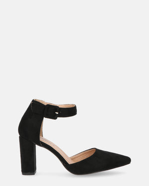 MYLA - black mid heeled shoes - QUANTICLO