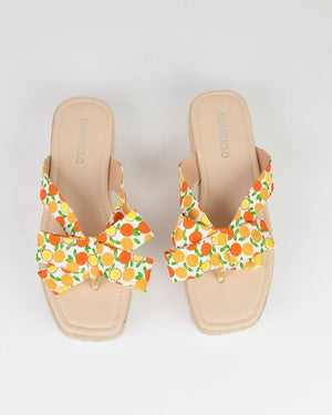 AVICE - sandals in orange print